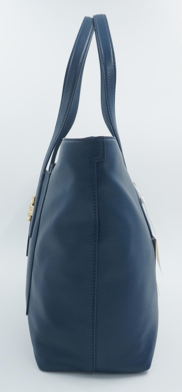 tory burch tasche handtasche leder hudson bay blau uvp 550euro neu ebay. Black Bedroom Furniture Sets. Home Design Ideas