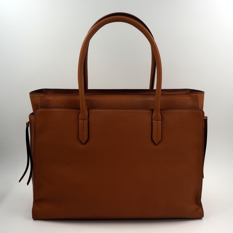 tory burch tasche handtasche leder bark braun uvp 555euro neu ebay. Black Bedroom Furniture Sets. Home Design Ideas