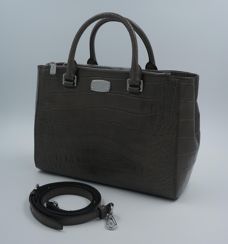 michael kors handtasche grau file michael kors selma lg. Black Bedroom Furniture Sets. Home Design Ideas