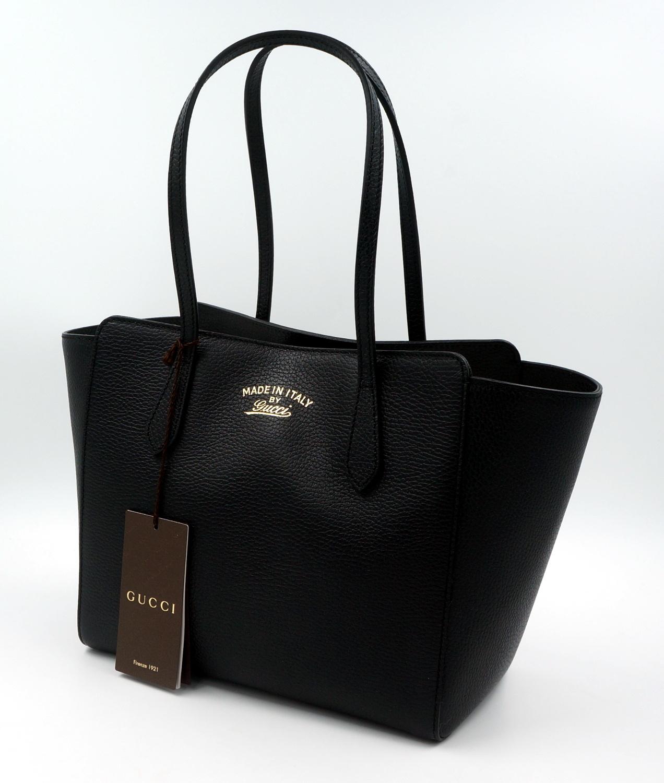 original gucci tasche shopper gg swing leder schwarz. Black Bedroom Furniture Sets. Home Design Ideas