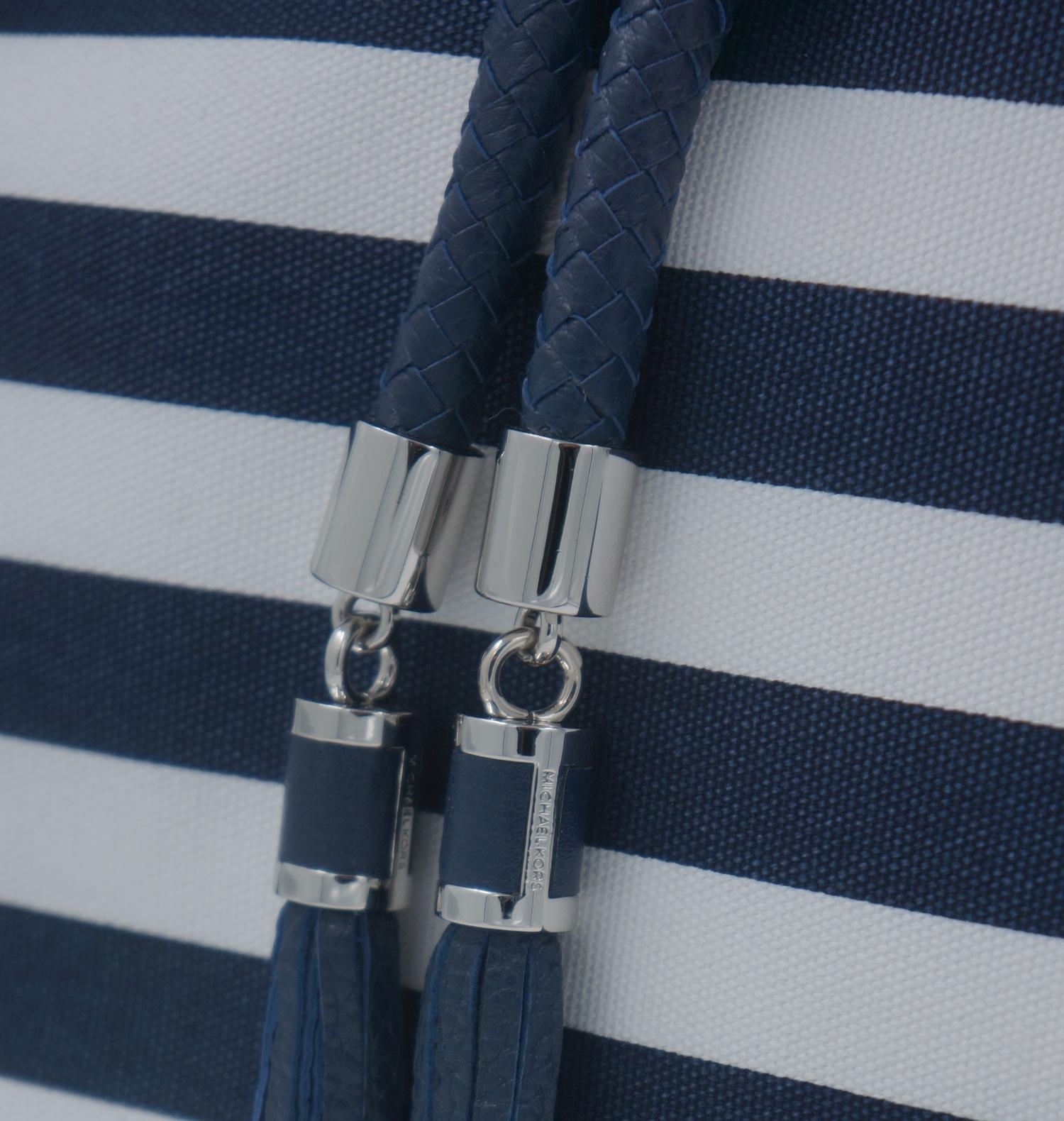 michael kors tasche marina lg navy weiss handtasche leder. Black Bedroom Furniture Sets. Home Design Ideas