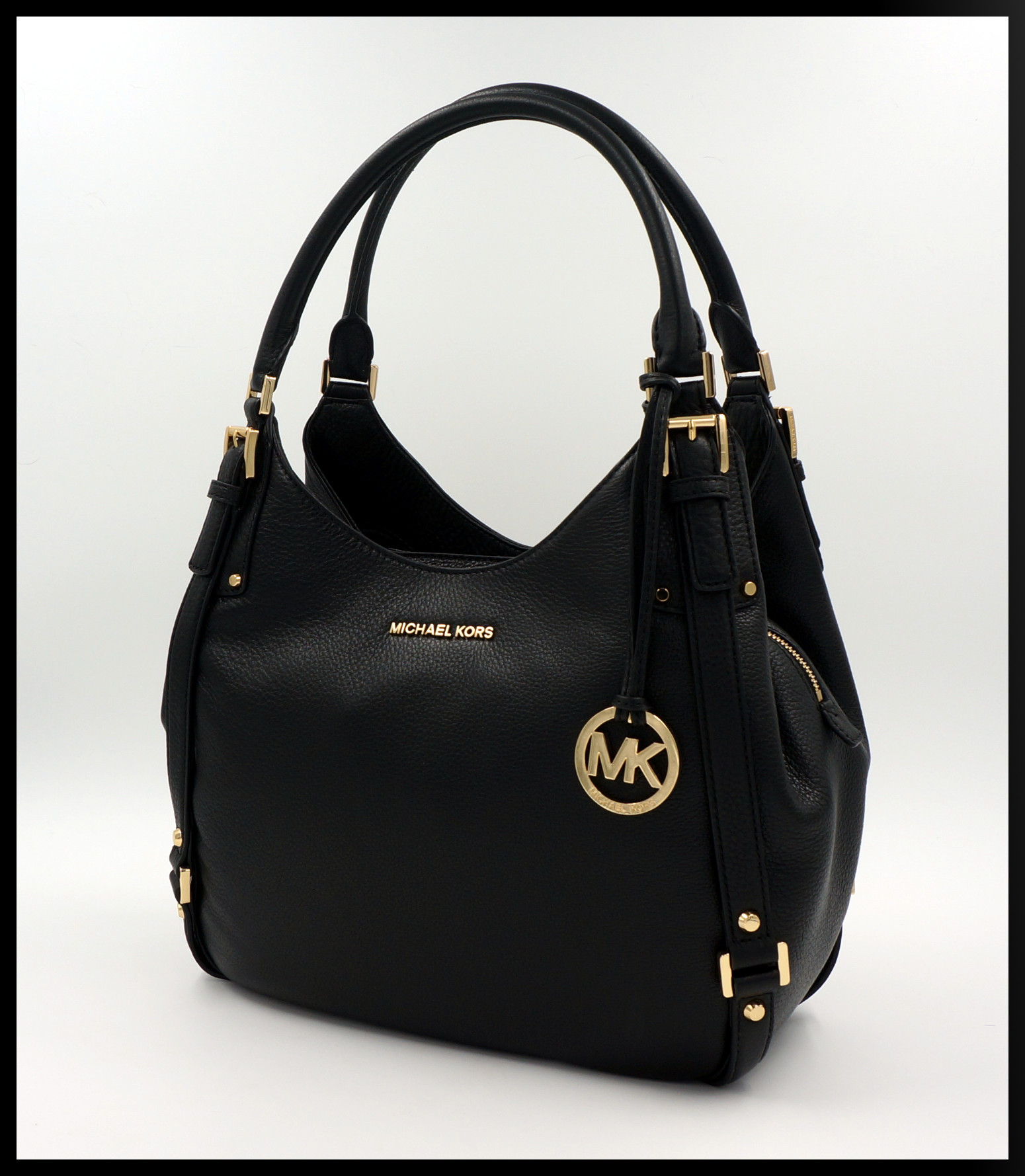michael kors tasche handtasche bedford lg leder schwarz. Black Bedroom Furniture Sets. Home Design Ideas